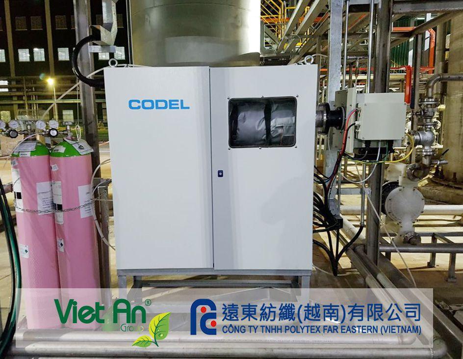 Trạm quan trắc khí thải tại nhà máy Polytek do Việt An lắp đặt