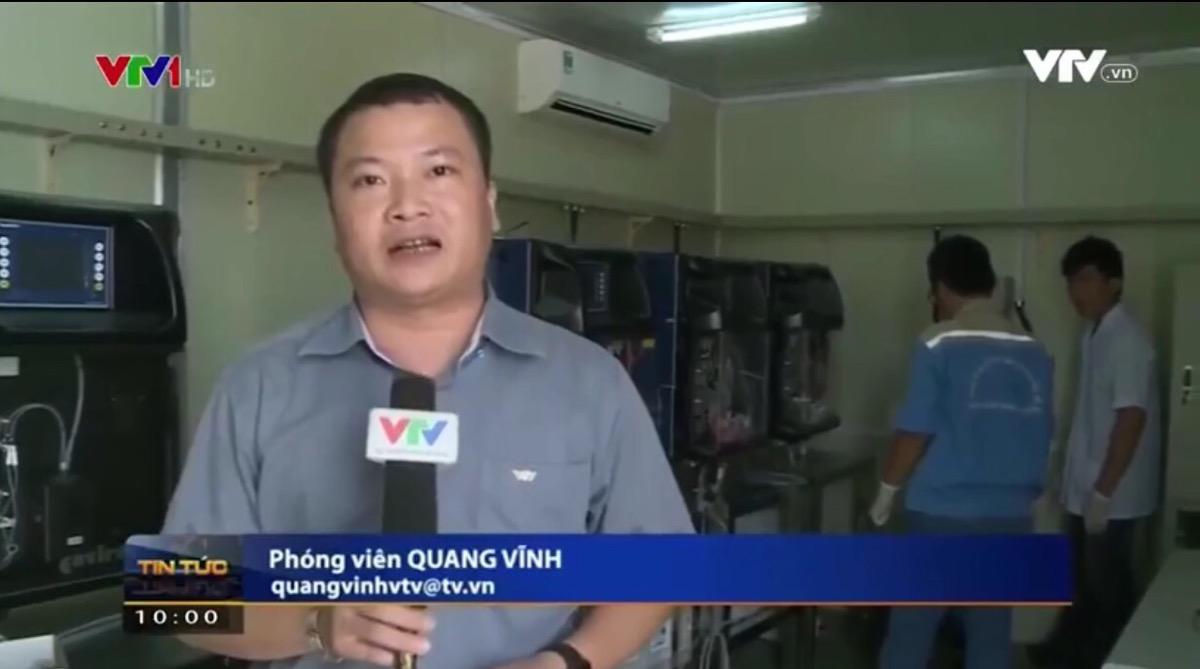 Dự án trạm quan trắc nước thải do Việt An lắp đặt được phát sóng trên chương trình thời sự VTV 3