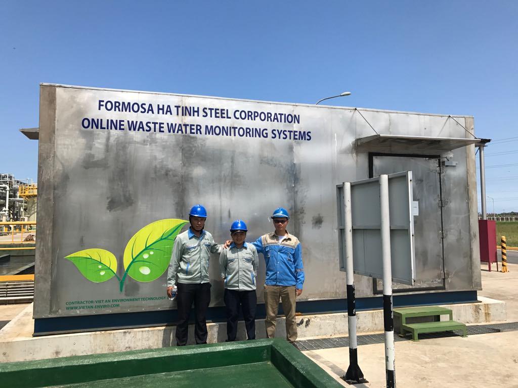 Trạm quan trắc do Việt An lắp đặt tại nhà máy Formosa Hà Tĩnh sau sự kiện cá chết 4 tỉnh miền Trung