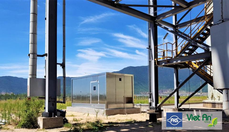 Hình ảnh dự án trạm quan trắc nước thải tự động tại nhà máy formosa Hà Tĩnh giai đoạn 2