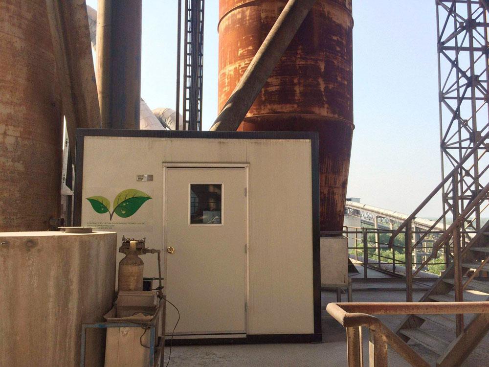 Lắp đặt TQT tự động chất lượng khí thải cho nhà máy xi măng Kim Đỉnh