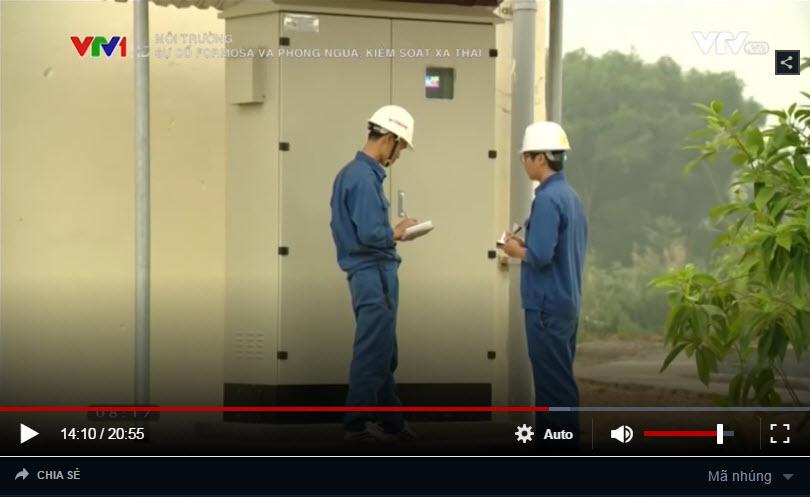 TQT nước thải tự động Việt An tại nhà máy giấy Tuyên Quang trên VTV1.