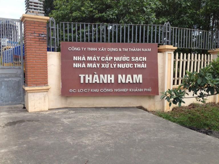 Trạm quan trắc chất lượng nước thải Cty TNHH xây dựng và thương mại Thành Nam