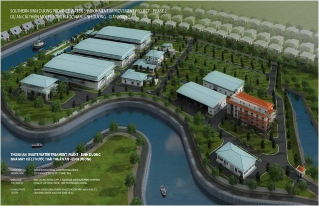Trạm quan trắc nước thải tự động Nhà máy XLNT Thuận An, Nam Bình Dương