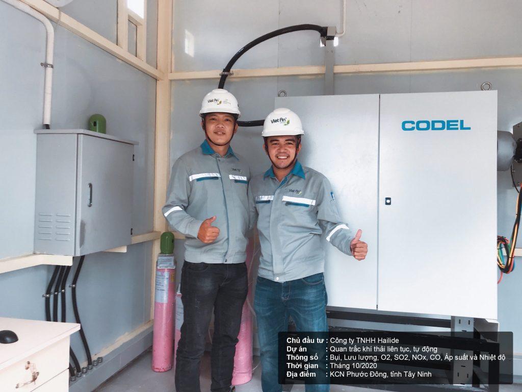 Hoàn thành lắp đặt và đưa vào hoạt động hệ thống quan trắc khí thải cho nhà máy Hailide