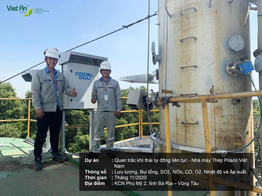 Hoàn thành lắp đặt hệ thống quan trắc khí thải cho nhà máy Posco Việt Nam