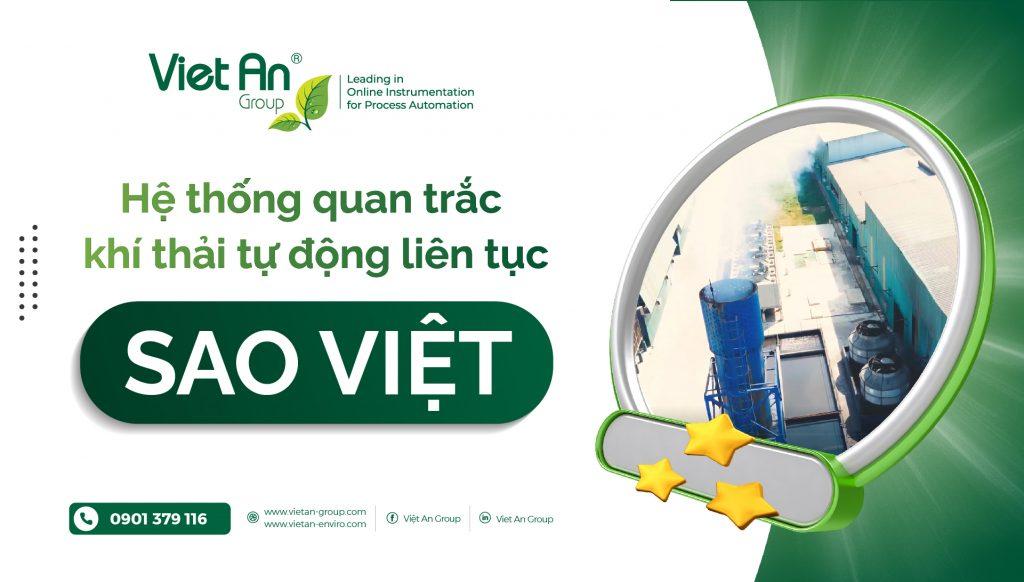Hệ thống quan trắc khí thải tự động liên tục Sao Việt