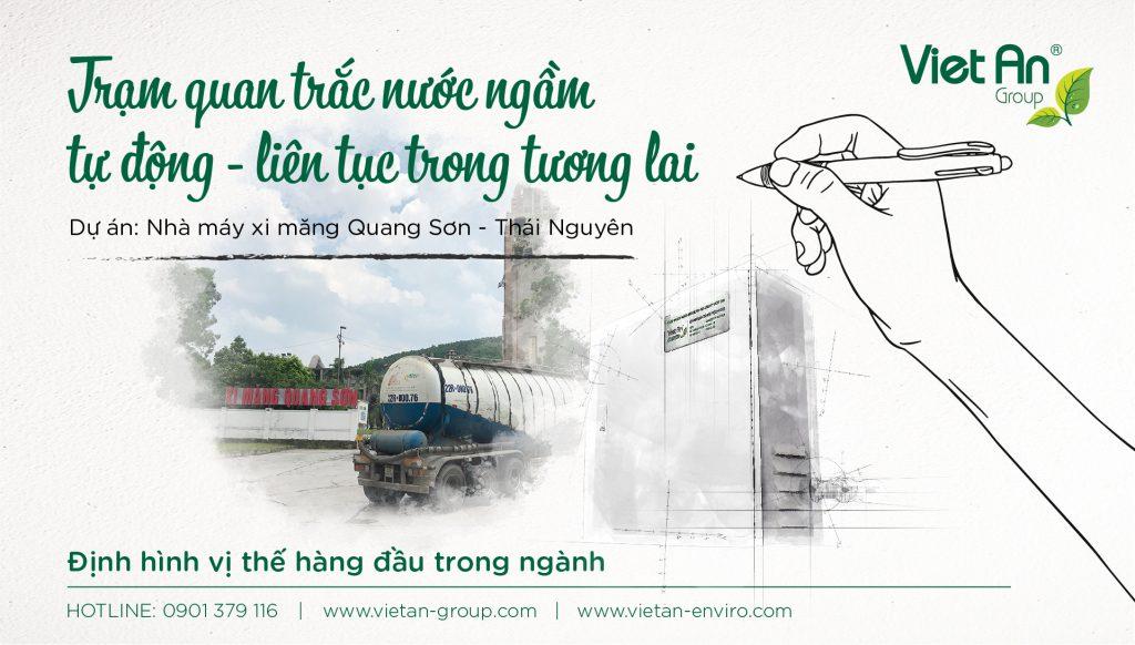 Trạm quan trắc nước ngầm – Nhà máy xi măng Quang Sơn – Thái Nguyên