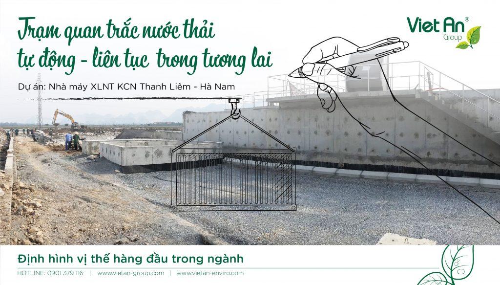 Trạm quan trắc nước thải tự động, liên tục – KCN Thanh Liêm, Hà Nam.
