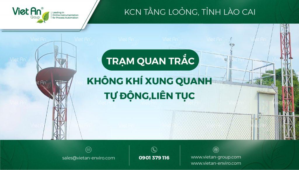 Hoàn thành lắp đặt và nghiệm thu cho Trạm quan trắc môi trường không khí tự động tại tỉnh Lào Cai