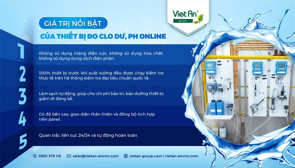 Điểm nổi bật của thiết bị đo Clo dư, pH online trong trạm quan trắc nước sạch